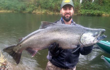 Chris with stellar late October Fall Chinook
